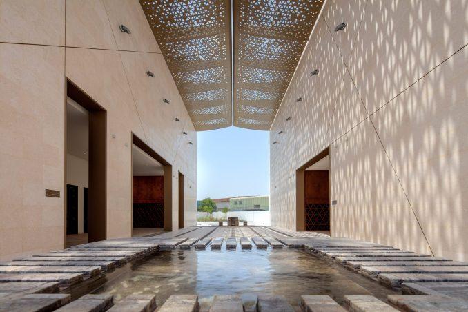 Linear courtyard