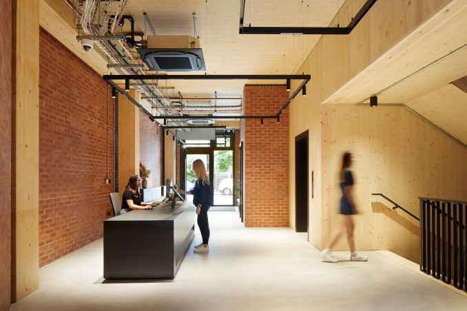 Entrance lobby for The Department Store Studios by Squire and Partners