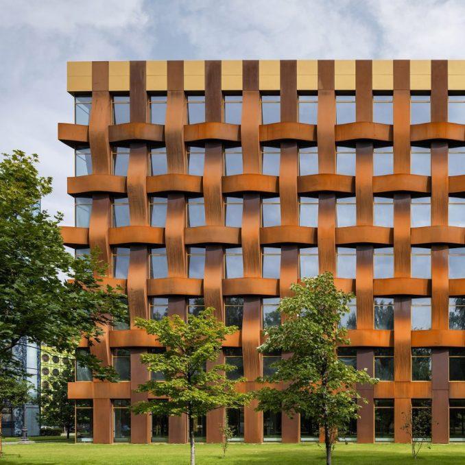 Corten steel facade of Ferrum 1 by Tchoban Voss Architekten