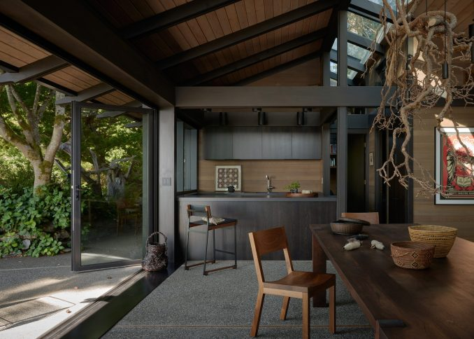 The rooms blend the indoors with outdoors