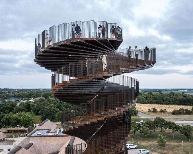 Viewing platform at the top of Marsk Tower