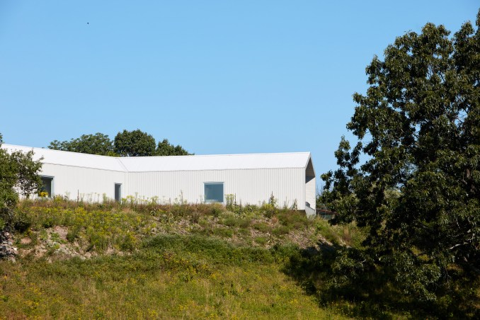 Salt Point Residence wrapped in corrugated metal