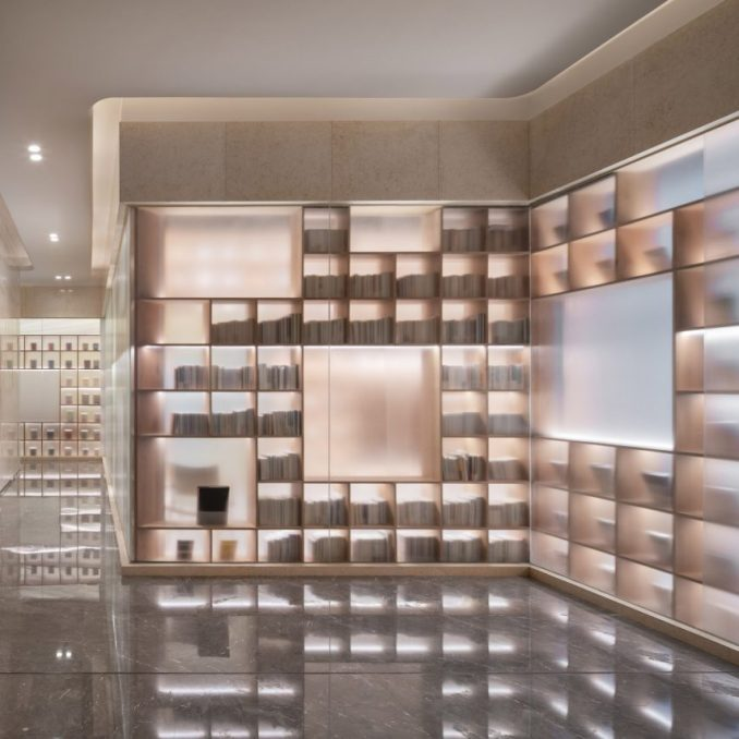 The interiors of The Glade Bookstore in Chongqing