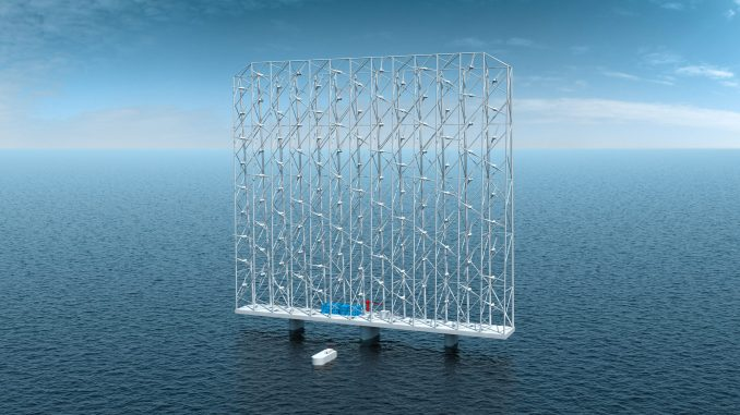 Giant floating wind farm