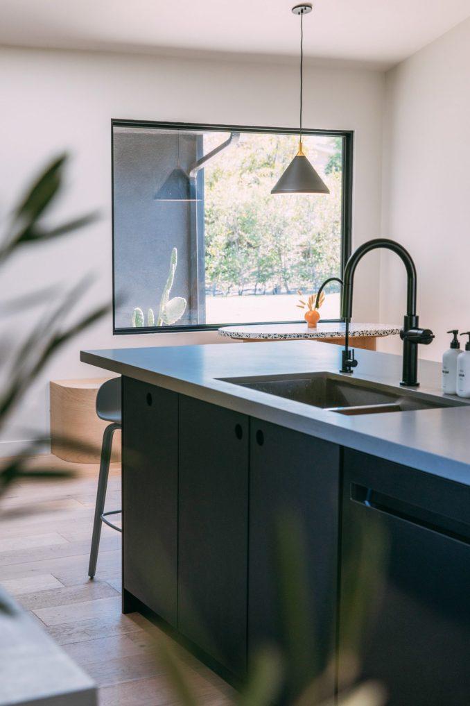 Scandinavian design elements feature in the kitchen