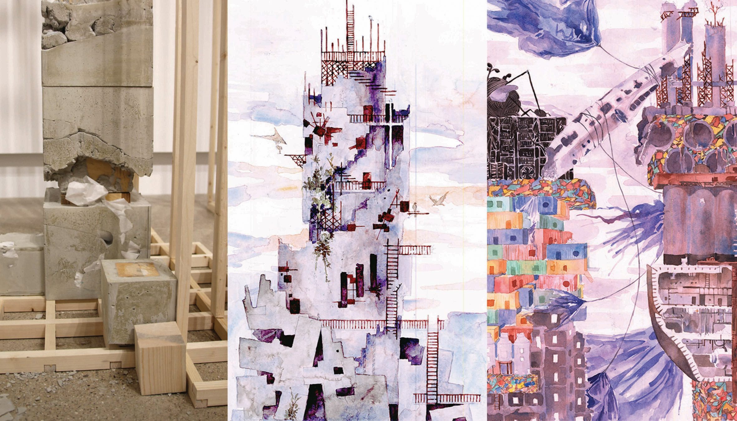"""Illustrations and photographs of """"architectural ruins"""""""