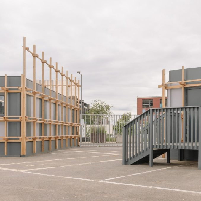 Entrance to Construction Skills School by EBBA Architects