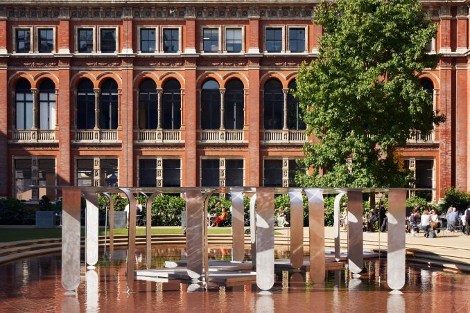 Between Forests and Skies pavilion in garden of V&A