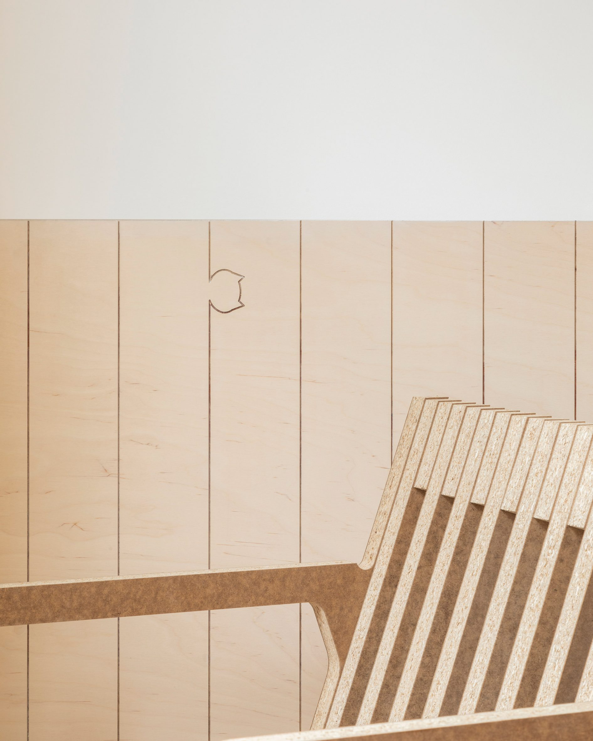 Wall panelling in The Queen of Catford by Tsuruta Architects