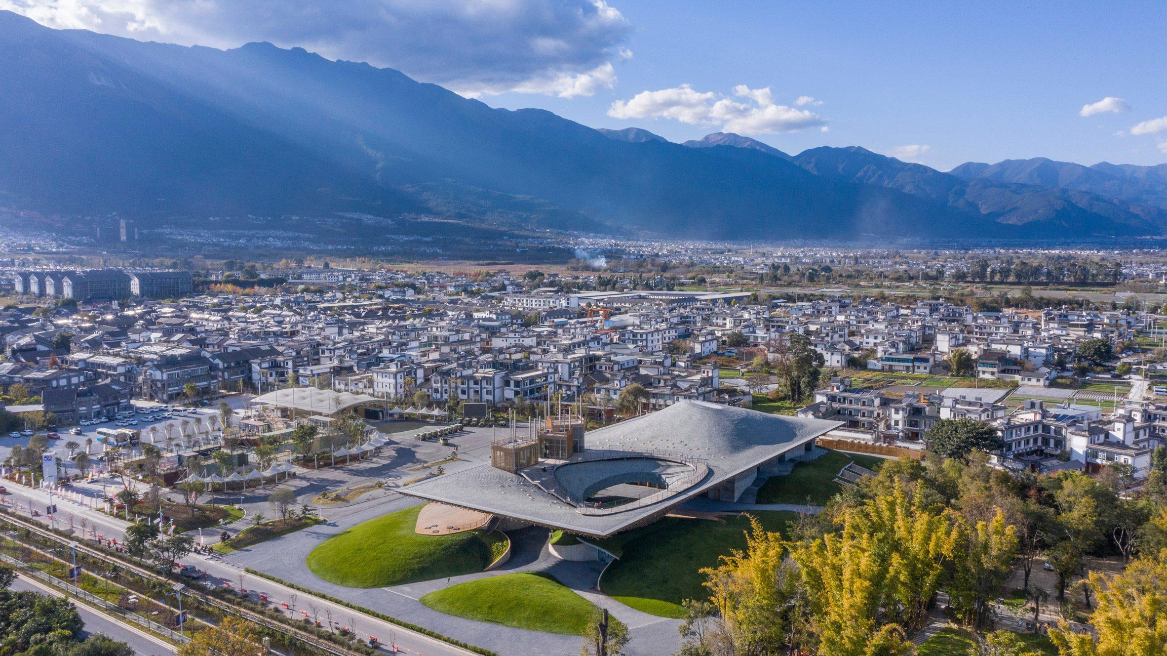 Aerial image of Yang Liping Performing Arts Center