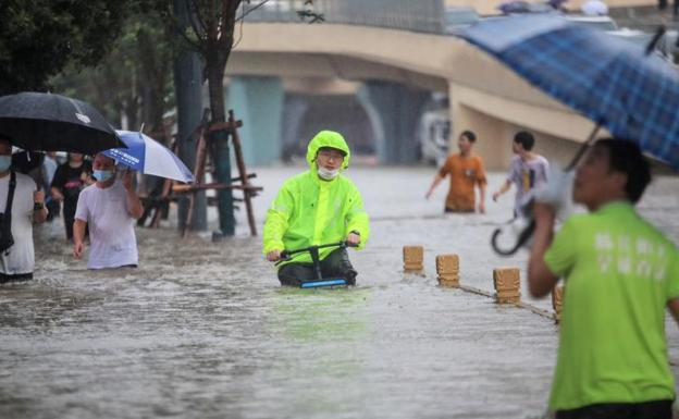 Torrential rains in China
