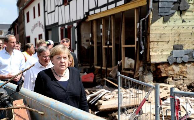 Homes reduced to rubble in Belgium