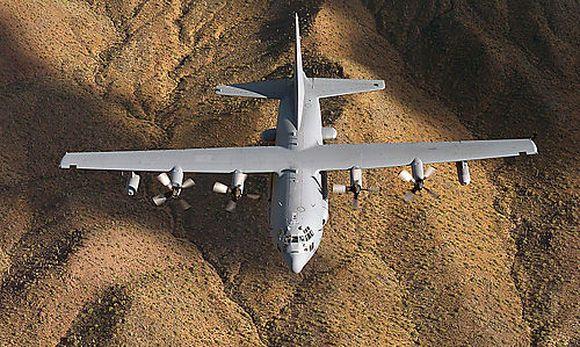 EC-130H Compass Call über Arizona / Bild: USAF