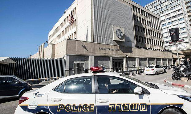 Die US-Botschaft im israelischen Tel Aviv. – (c) APA/AFP/JACK GUEZ (JACK GUEZ)