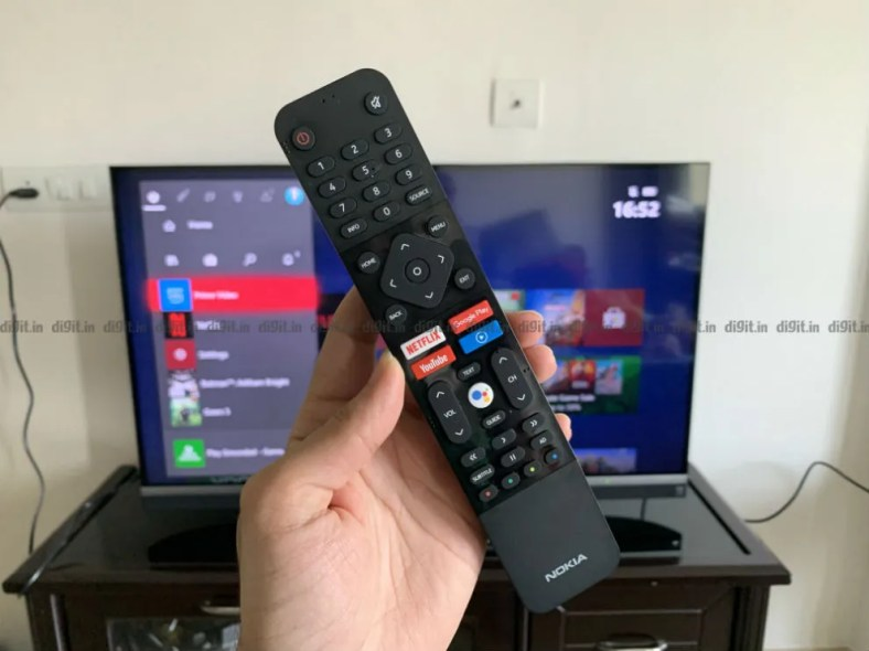Nokia 43-inch TV comes with a traditional remote control.