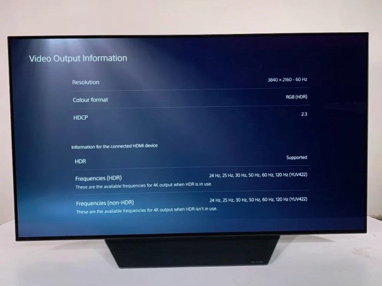 4k HDR TV details of the LG CX.
