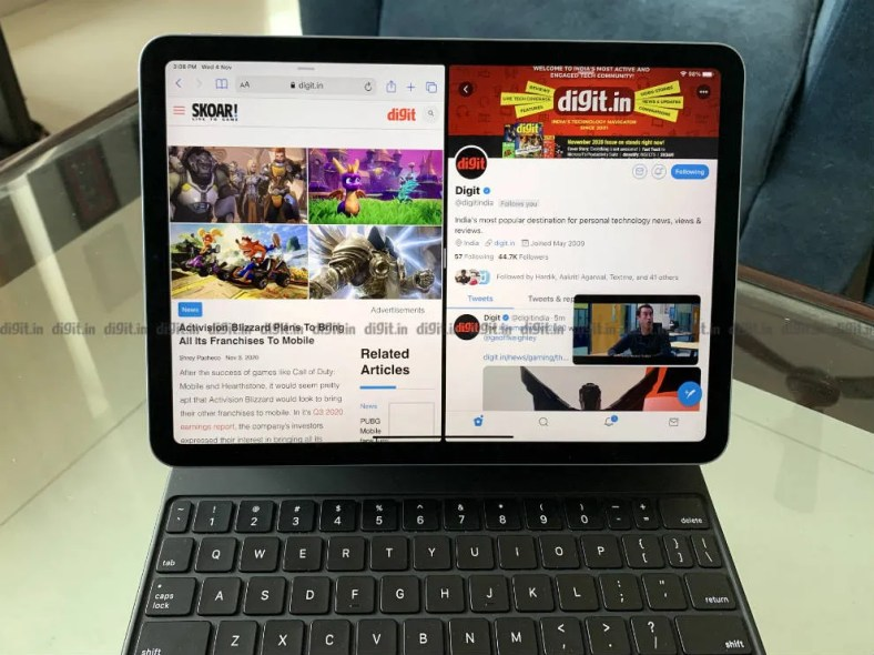You can multitask on the iPad Air 2020.
