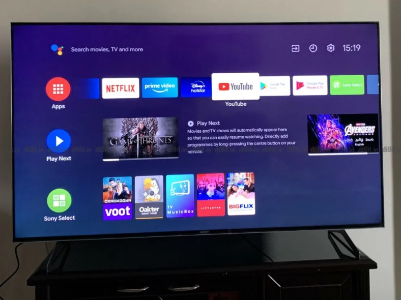 The Sony X90H runs on the Android TV UI.