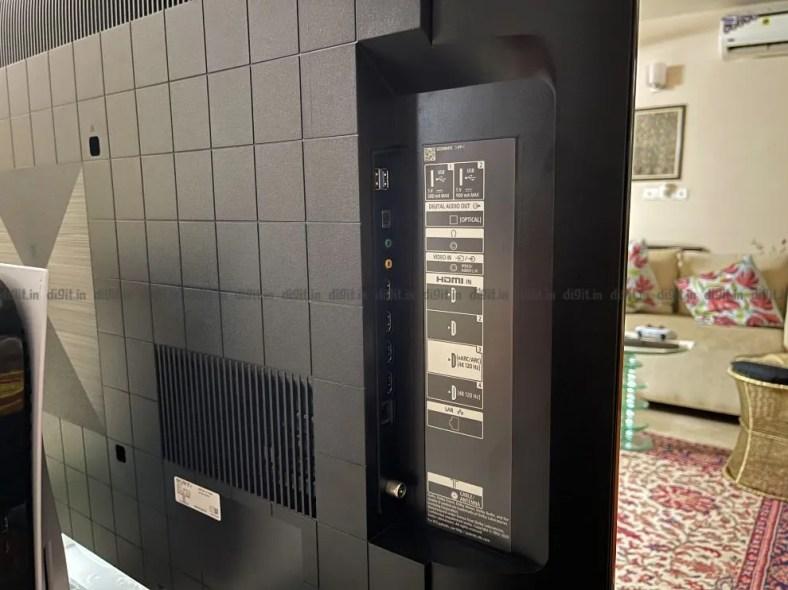The Sony X90J has 4 HDMI ports and 2 USB ports.