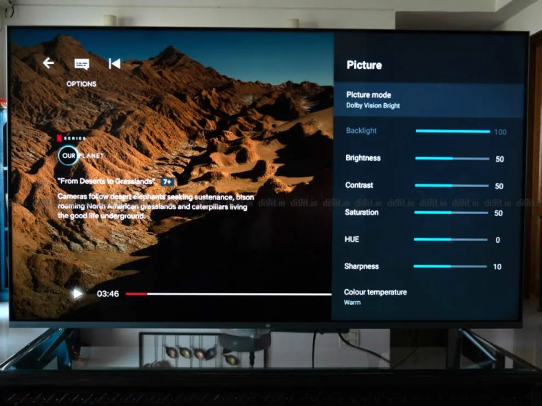 You can control more than just picture presets on the Mi QLED TV 4K