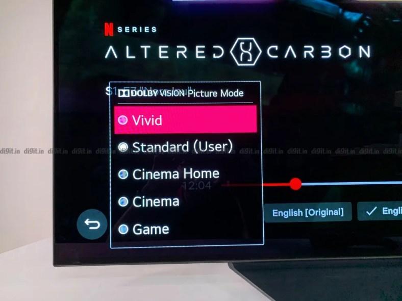 LG CX picture modes.
