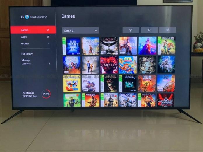 O Realme SLED TV tem um bom desempenho em jogos.