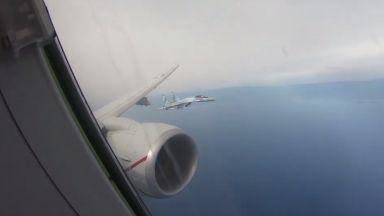 Russian Su-35s intercept US reconnaissance plane over Mediterranean Sea (video)