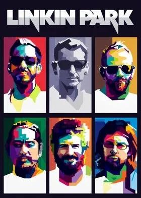 chester bennington pop art poster by
