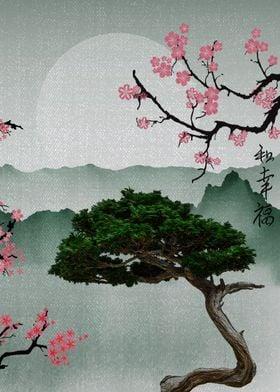 japanese cherry blossom posters art