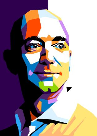 Jeff Bezos' Poster Print by Beny Rahmat | Displate