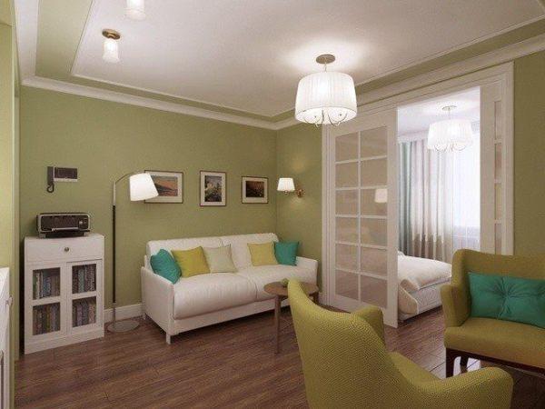 Как сделать из одной комнаты спальню и гостиную?