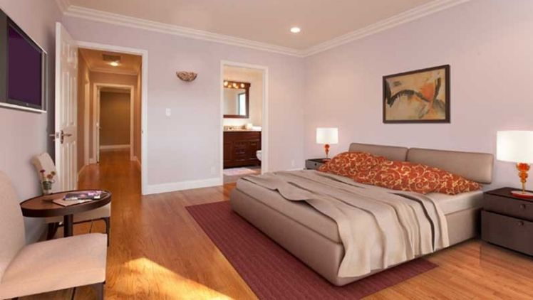 A room after virtual staging.
