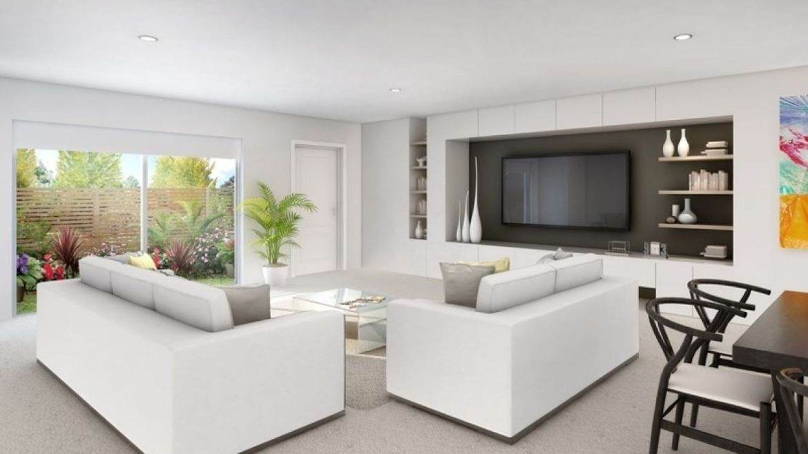 An artist's impression of the inside of an apartment at the C24 development.