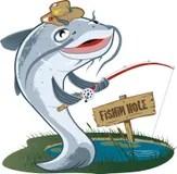 Catfish Fisherman Stock Photo