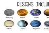 Interchangeable Planets Bracelet DudeIWantThatcom