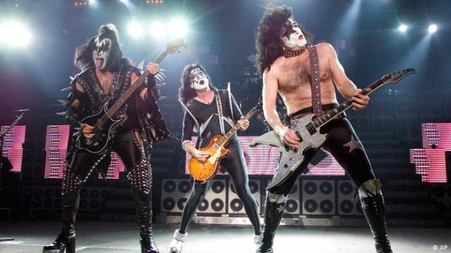 File photo showing performing members of the rock band KISS