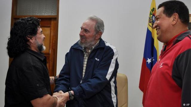 Maradona and Fidel Castro