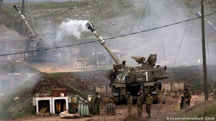 Israel Grenze Libanon Artillerie Angriff auf Hisbollah Vergeltungsaktion