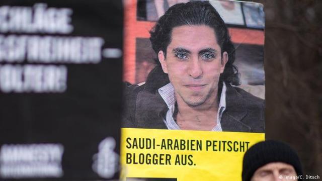Saudi Arabian blogger Raif Badawi poster
