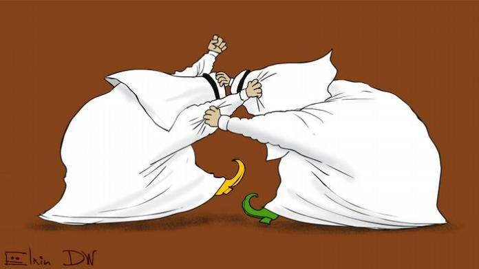 A cartoon of the crisis between Qatar and its Gulf Cooperation Council neighbors