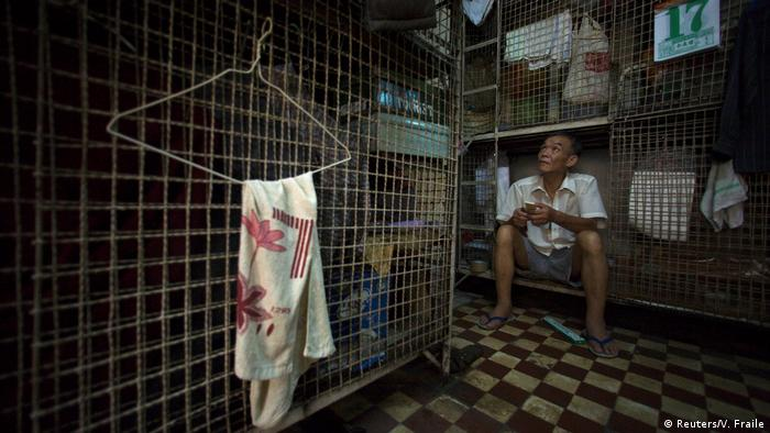 Today an estimated 200,000 people live in a cage or occupy a bed in a shared apartment.