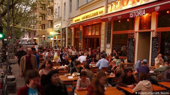 Kollwitzplatz district in Berlin