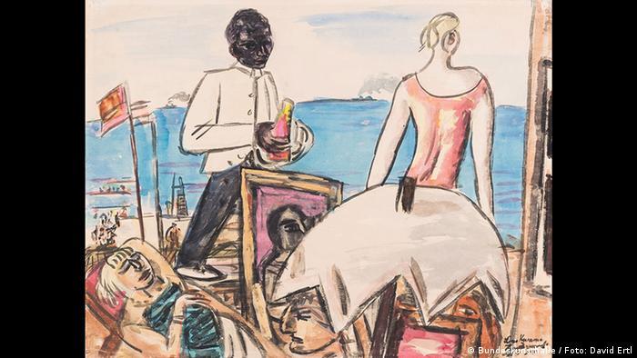 Max Beckmann, Zandvoort Beach Cafe (Kunst- und Ausstellungshalle der Bundesrepublik Deutschland GmbH / Foto: David Ertl)