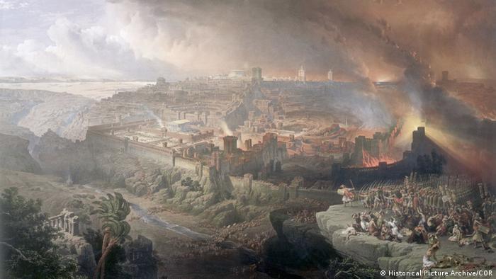 Από το 63 π.Χ. η Ιερουσαλήμ βρίσκεται υπό ρωμαϊκή κατοχή. Το 66 π.Χ. προβάλλεται αντίσταση και ξεσπά ο Ιουδαϊκός Πόλεμος. Τελειώνει τέσσερα χρόνια αργότερα με τη νίκη των Ρωμαίων και την καταστροφή εκ νέου του ναού της Ιερουσαλήμ. Ρωμαίοι και Βυζαντινοί κατέχουν για 700 χρόνια περίπου την περιοχή της Παλαιστίνης.