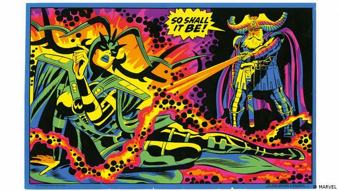 Seite aus dem Buch The Marvel Age of Comics 1961–1978 des Taschen Verlag: Third Eye black light poster; art, Jack Kirby; 1971 (MARVEL)