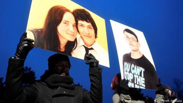 Protest in Bratislava in connection with the murders of Jan Kutsiak and Martina Kusnirova