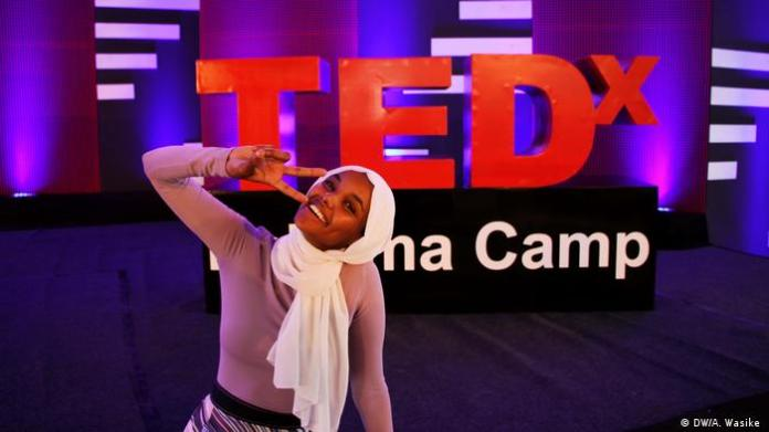 TEDx conference in the refugee camp Kakuma / Kenya with Halima Aden (DW / A. Wasike)