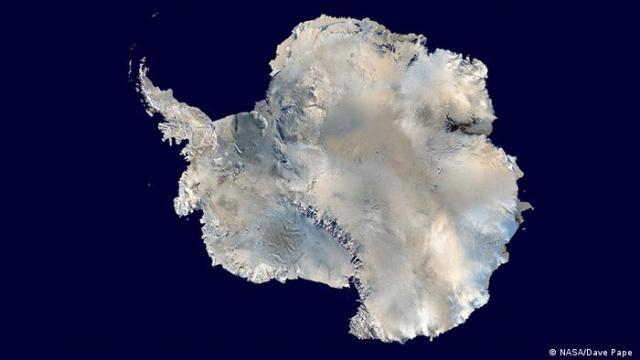 Satellite photo of Antarctica