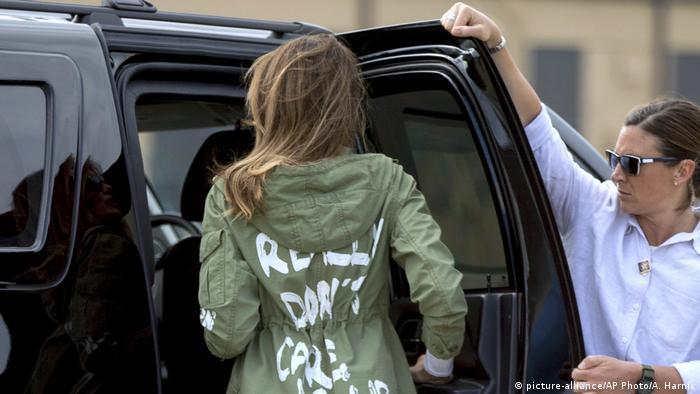 USA First Lady Melania Trump (picture-alliance/AP Photo/A. Harnik)