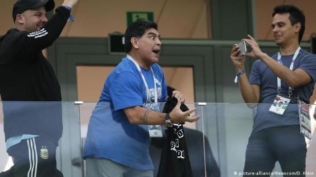 Maradona at the 2018 World Cup